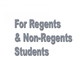 For Regents and Non Regents Students